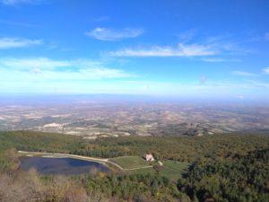 Panorama dal Lago Pescara a Biccari